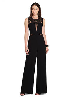 BCBGMAXAZRIA Laden Lace Jumpsuit