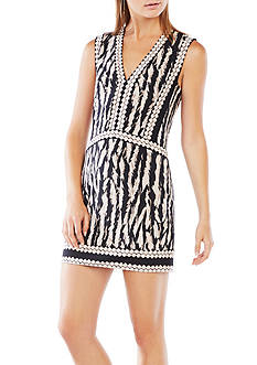 BCBGMAXAZRIA Bridgit Animal Print Tunic Dress