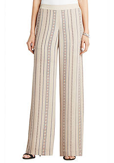 BCBGMAXAZRIA Joan Printed Wide Leg Pants