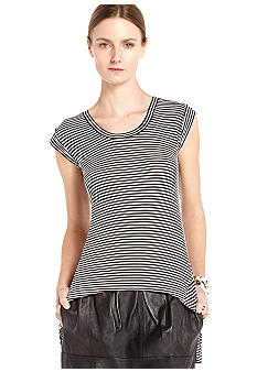 BCBGMAXAZRIA Asymmetrical Hem Knit Top