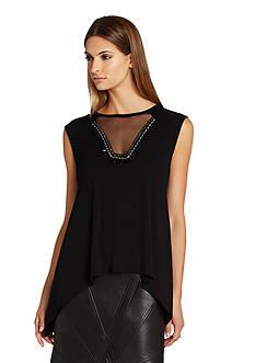 BCBGMAXAZRIA Delaney Sleeveless Knit Top