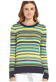 BCBGMAXAZRIA Fairisle Cotton Sweater
