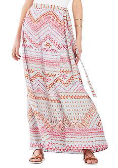 BCBGMAXAZRIA Aviva Printed Maxi Skirt