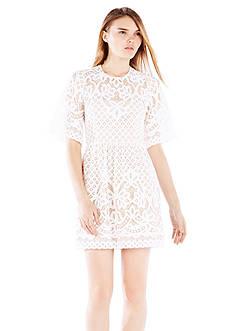 BCBGMAXAZRIA Jillyan Short Lace Cocktail Dress