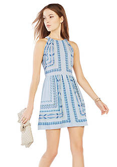 BCBGMAXAZRIA Cambria Tapestry Printed Dress