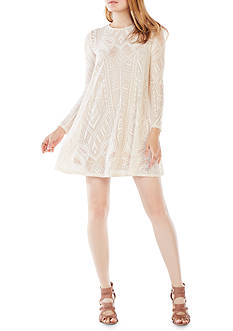 BCBGMAXAZRIA Geo Knit Dress