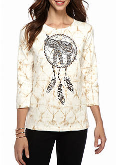 Alfred Dunner Classics Elephant Knit Tee