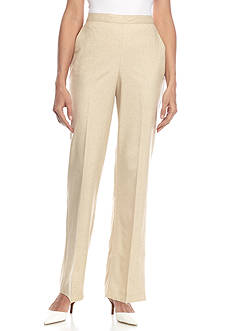 Alfred Dunner Classics Faux Linen Pants