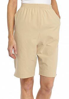 Alfred Dunner Classics Sheeting Shorts