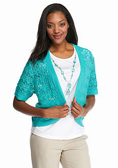 Alfred Dunner Classics Knitted 2Fer with Necklace