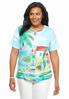 Alfred Dunner Plus Size Classics Scenic Tee