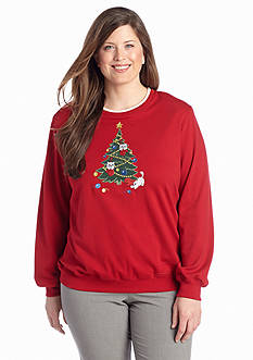 Alfred Dunner Plus Size Classics Kitten Knit Top