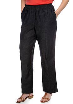 Alfred Dunner Plus Size Proportioned Denim Pant (Average & Short)