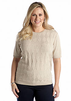 Alfred Dunner Plus Size Classics Solid Shell