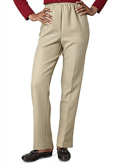 Alfred Dunner Petite Solid Pull-On Pant (Short & Average Inseam)