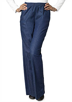 Alfred Dunner Classic Pull-on Jean Pants