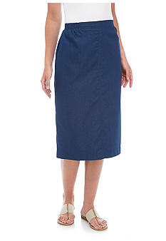 Alfred Dunner Denim Skirt