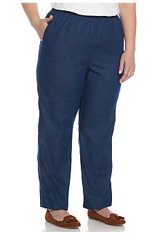 Alfred Dunner Plus Size Proportioned Denim Pant