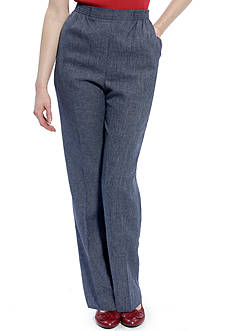 Alfred Dunner Mulberry Street Proportioned Solid Pant