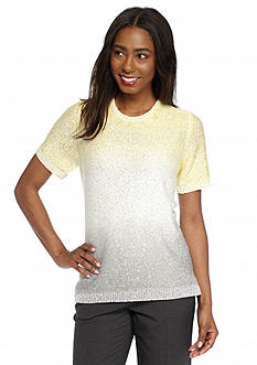 Alfred Dunner Petite Santa Clara Ombre Sequin Sweater