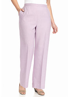 Alfred Dunner Plus Size Lavender Fields Proportioned Pants