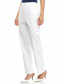 Alfred Dunner All Aboard Solid Proportioned Pants