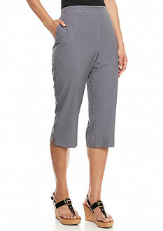 Alfred Dunner Weekend Oasis Gingham Capris