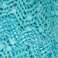 Kim Rogers Women Sale: Turquoise Kim Rogers Sanibel Island Textured 2Fer Top