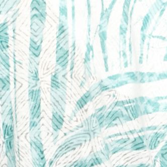 Women's T-shirts: Turquoise Alfred Dunner Sanibel Island Embellished Leaf Knit Top