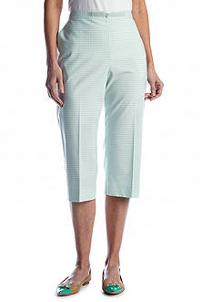 Alfred Dunner Garden District Checkered Capri