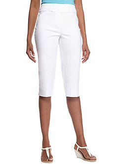Alfred Dunner Petite Feels Like Spring Stretch Capri Pants