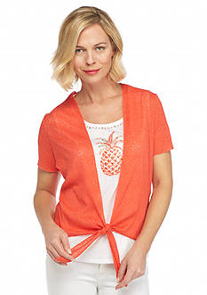 Alfred Dunner Petite Feels Like Spring Pineapple 2Fer