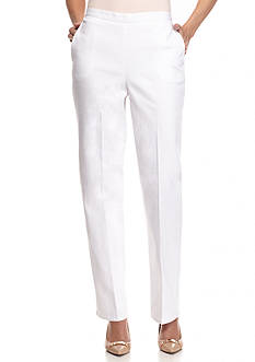 Alfred Dunner White Now Proportioned Pants