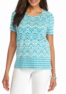 Alfred Dunner Cozumel Monotone Knit Top