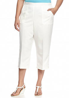 Alfred Dunner Plus Size Cozumel Solid Capris