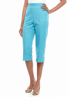 Alfred Dunner Petite Cozumel Solid Capris