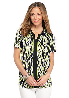 Alfred Dunner Sao Paolo Printed Knit Top