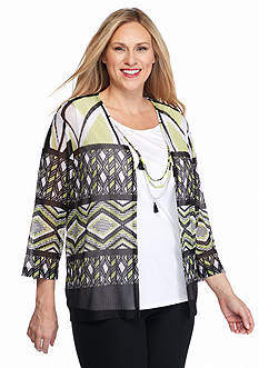 Alfred Dunner Plus Size Sao Paolo Biadere 2Fer