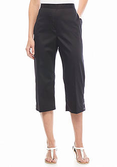 Alfred Dunner Petite Sao Paolo Solid Capris