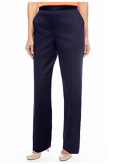 Alfred Dunner Prince Street Pull On Pant Average Inseam
