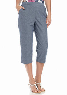 Alfred Dunner St. Augustine Solid Capris