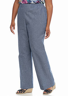 Alfred Dunner Plus Size St. Augustine Proportioned Pant