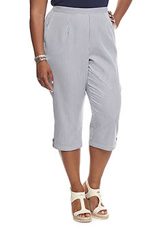 Alfred Dunner Plus Size St. Augustine Striped Capris