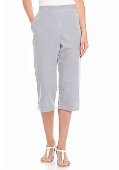 Alfred Dunner Petite St. Augustine Striped Capri Pants