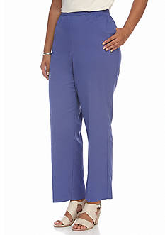 Alfred Dunner Plus Size Cyprus Solid Pant