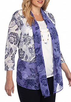 Alfred Dunner Plus Cyprus Floral 2Fer