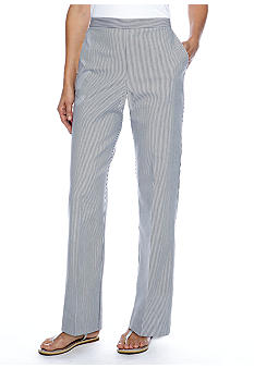 Alfred Dunner South Hampton Pinstripe Pant Short Inseam
