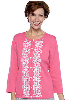 Alfred Dunner South Hampton Lace Cardigan