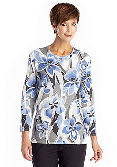 Alfred Dunner Lake Como Abstract Floral Sweater