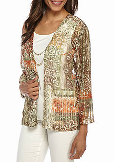 Alfred Dunner Petite Cactus Ranch Patchwork 2Fer